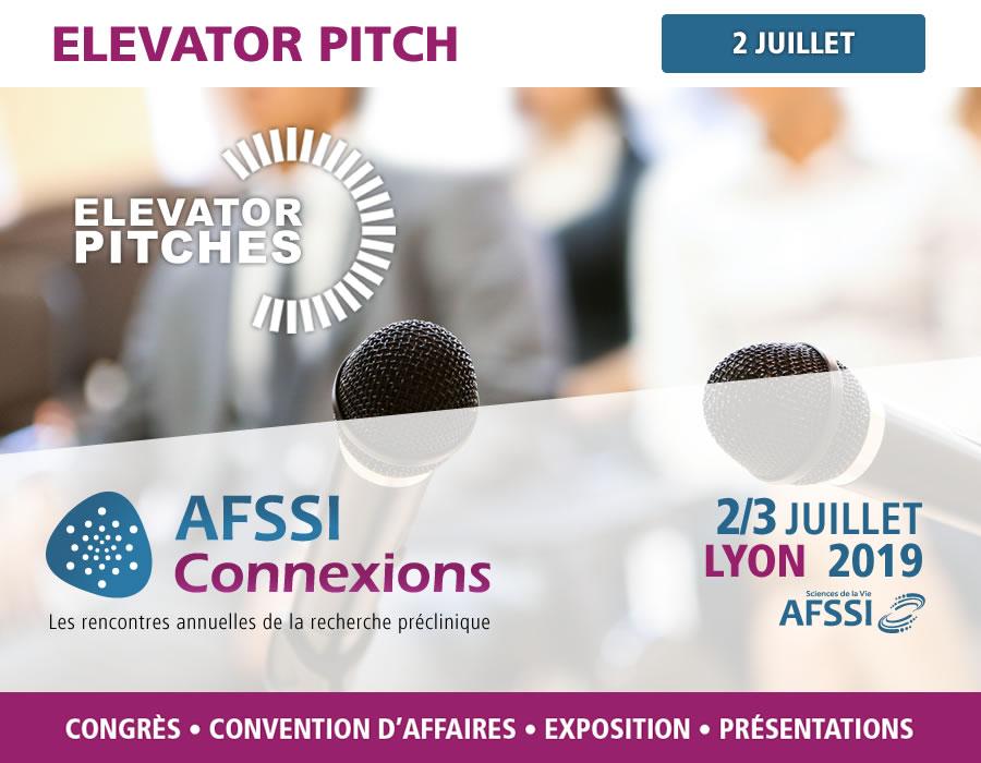 Elevator pitch - AFSSI Connexions - Les rencontres annuelles de la recherche préclinique